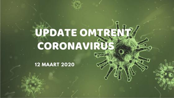Update omtrent Coronavirus   maart 2020
